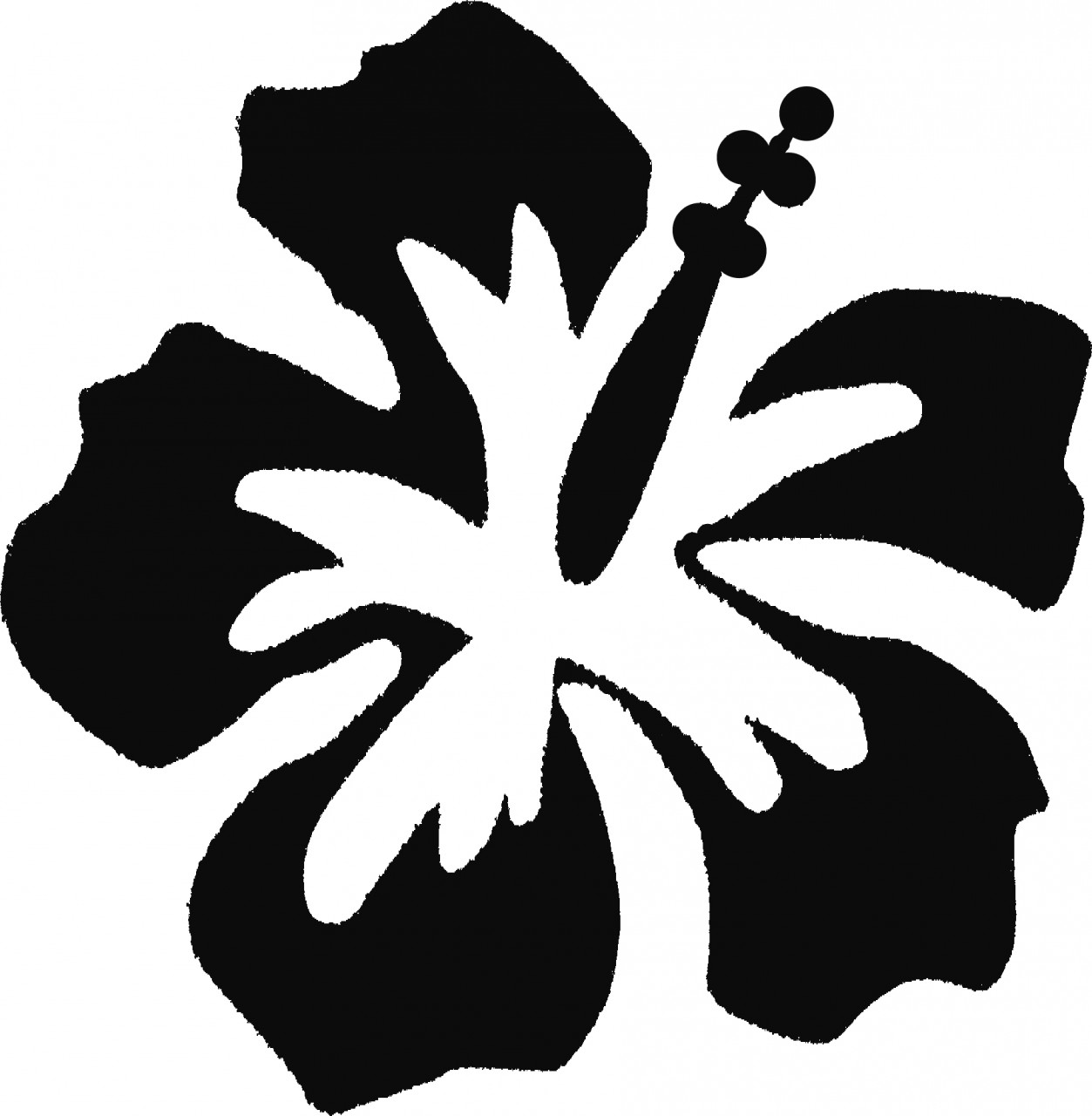 Hawaii Flower Stencils Tattoo